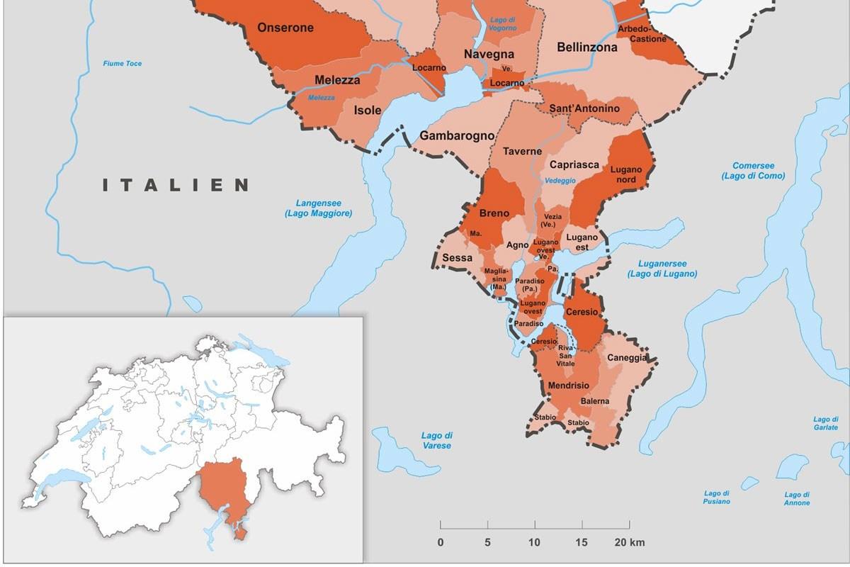 Cartina Canton Ticino Svizzera.Come Cercare Lavoro In Ticino Job Contact